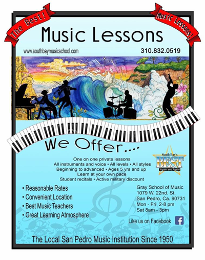 Gray School of Music  San Pedro SOuth Bay GraySchoolofMusic.net Music Education contact us